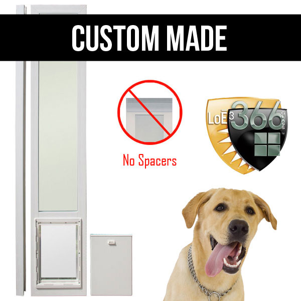 Low E Glass Dual Pane Door Vinyl Dog Doors Doggy Door Factory
